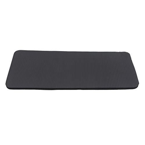 Jixing Yoga-Matte Anti-Rutsch-Übung Flache Unterstützung Sportmatte Yoga Pilates Fitness Ellenbogen Knieschoner Home Gym Exercise Pad, Schwarz