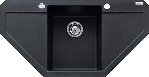 Franke Maris MRG 612-E Onyx Granit Eckspüle Schwarz Spültisch Auflagespüle Küche