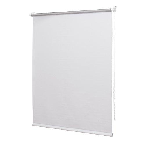 Ventanara - Estor de oscurecimiento para ventana /estor térmico, enrollable, fijación adhesiva con montaje sin agujeros, incluye accesorios de montaje, tamaños: 40/50/60/70/80/90/100/110 x 150/210 cm, color naranja, weiss, 60x150 (B x H in cm)