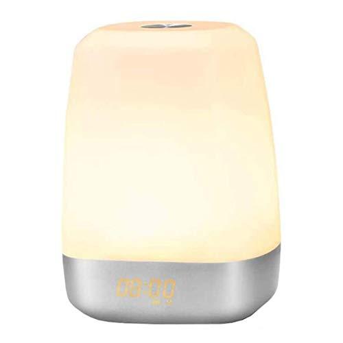 Wake Up Light, Wake Up Light Wecker, digital, Nachtlicht, LED-Nachtlicht, LED-Nachtlicht, RGB-Nachtlicht, LED-Nachtlicht, 3000 mAh, Touch-Steuerung, Stromversorgung
