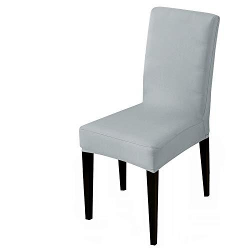 wkd-thvb Funda de silla elástica impresa para silla de oficina, para restaurante, hotel, decoración del hogar, color plateado, tamaño universal