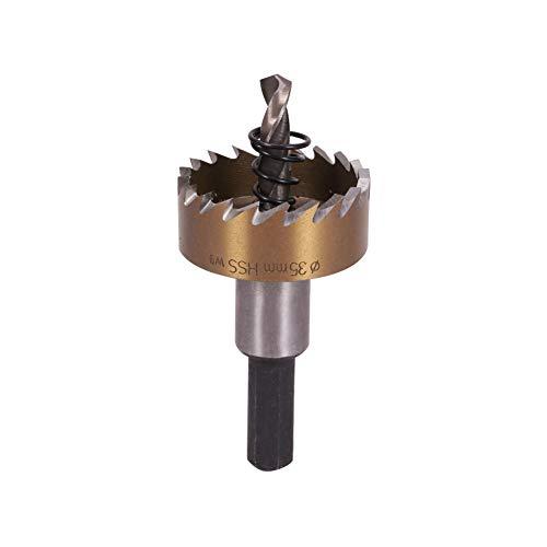 Utoolmart 35mm Golden HSS Drill Bit Hole Saw Cutter 70mm Length for Metal Alloy Wood 1pcs