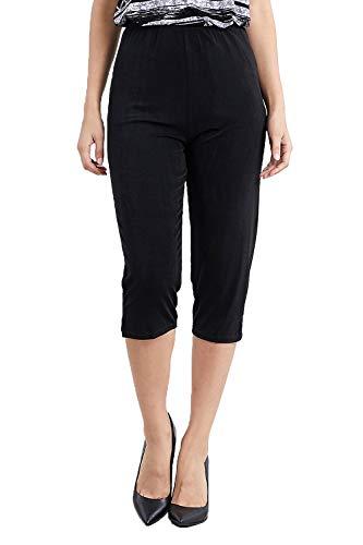 Jostar Women's Stretchy Capri Pants Small Black