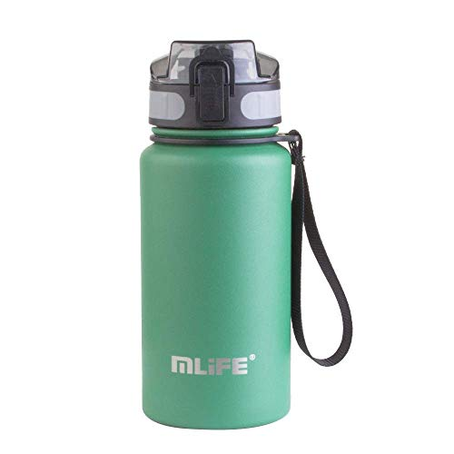 Leak Proof Slim Water BottleBounce Cover Portable Portable Stainless Steel Cold Water Cup,Lid Cup