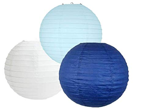 Papier Lantaarns Mix Color Packs van 3 Ronde Papier Lantaarns Lampenkap Party Decoraties