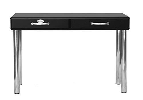Tenzo 5256-033 Malibu Designer Schminktisch Holz, schwarz, 50 x 120 x 79 cm