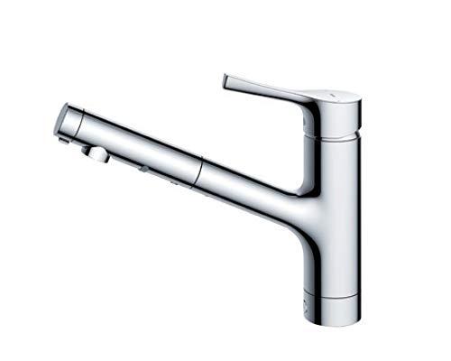 台付シングル混合水栓(エコシングル、ハンドシャワー) TKS05305J