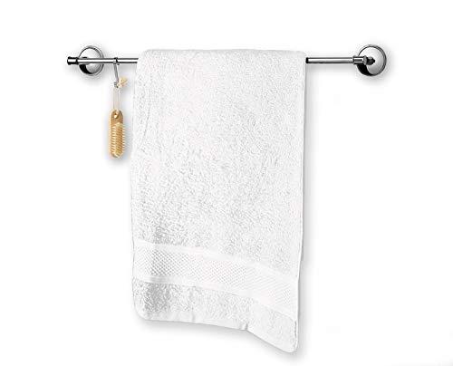 Asciugamano da bagno grande tinta unita, telo bagno, 90x140 cm. 100% cotone con spugna proveniente dal Portogallo (Bianco)