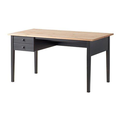 IKEA Schreibtisch, ARKELSTORP, schwarz, 70 x 140 cm