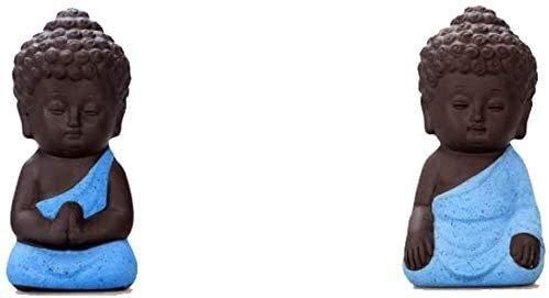 Monk/Rulai Buda Estatuas Decoraciones China Púrpura Arcilla/Zisha Tea Pet (Conjunto de 2) Decoración para Hogar y Oficina Hecho a Mano Mejor Regalo Kungfu Tea Tea Bandeja Accesorios 326