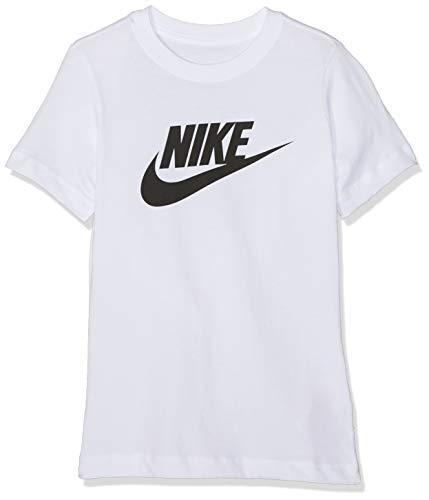 Nike Jungen B NSW Tee Futura ICON TD T-Shirt, White/(Black), S