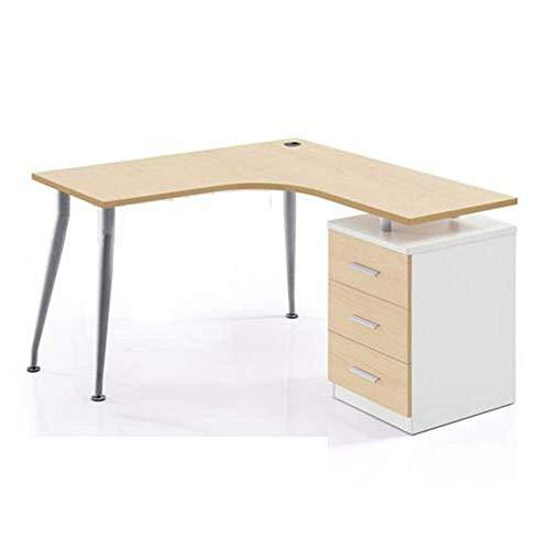 YZjk Liang großer Eckcomputertisch mit 3 Schubladen/Schreibtisch/Schreibtisch/Chef-Tisch/und A4-Ablageeffekt Ecktisch/Möbel für das Büro zu Hause Klapptische