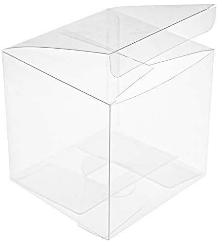 Best Deals! Yesland 35 PCS Candy Apple Box - 4 x 4 x 4 Inches - Clear Plastic Gift Boxes for Caramel...