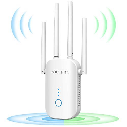 JOOWIN WiFi Repetidor 1200Mbps 2.4 GHz y 5GHz Amplificador de Señal de Red WiFi de Doble Frecuencia Punto de Acceso...