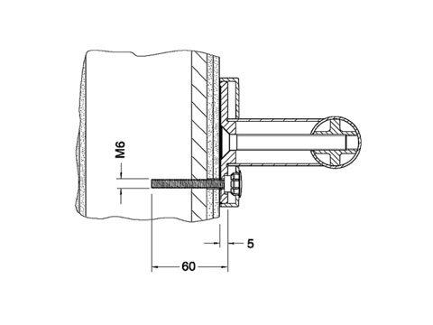 Keuco 34993000200 Befestigung-Set 7 Plan Care 3x Zylinderschraube M6x60 V2A