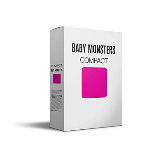 Baby Monsters Compact - Colchoneta para silla de paseo, color rosa y fucsia