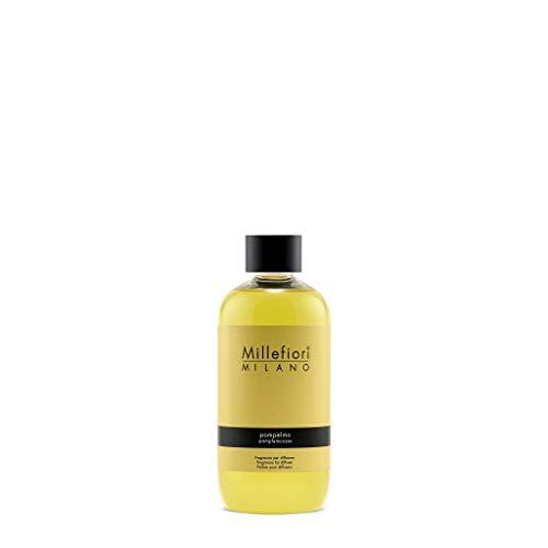 Millefiori Pompelmo Nachfüllflasche für Natural Raumduft Diffuser, Plastik, Gelb, 6.3 x 5 x 13.7 cm, 250 ml