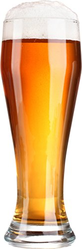 Circleware Long Beach Pilsner Weizen Beer Drinking Glasses, Set of 4, 23 ounce, Limited Edition Glassware