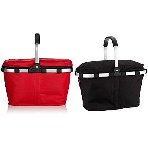 Reisenthel carrybag iso red & carrybag iso BT7003 in black – Isolierter Einkaufskorb mit 22l Volumen – Praktisch und handlich – B 48 x H 29 x T 28 cm