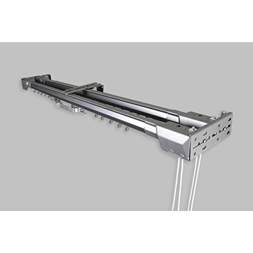 InStyleDesign Silver Heavy Duty Traverse Double Rod - Center Open 66 to 120 inch 66 to 120 inch