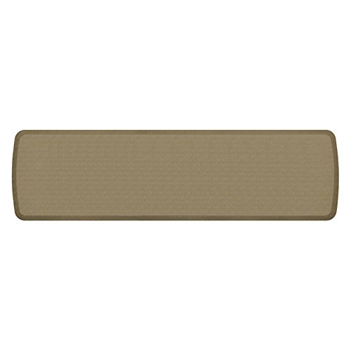 """GelPro Elite Premier Anti-Fatigue Kitchen Comfort Floor Mat, 20x72"""", Linen Sandalwood Stain Resistant Surface with Therapeutic Gel and Energy-return Foam for Health and Wellness"""