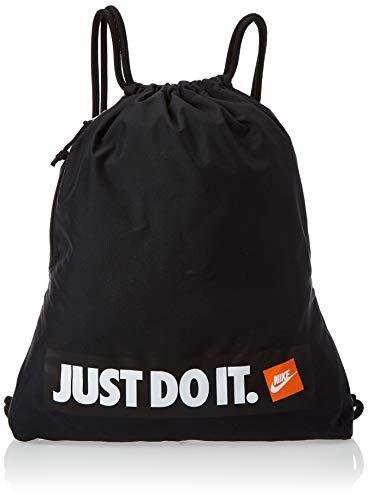 Nike Nk Heritage Gmsk 1 - GFX, Unisex Adults' Canvas and Beach Tote Bag, Black (Black / / White), 8x15x20 cm (W x H L)