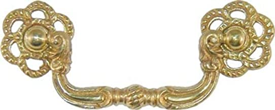 13 Vintage Keeler Brass No 7579 Cabinet Pull Drawer Handle Colonial Thumb Rest