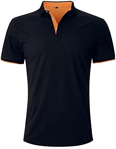 Fanient Herren Polo Hemden Kurze Ärmel Golf Performance T-Shirt zum Männer Sports Tshirts