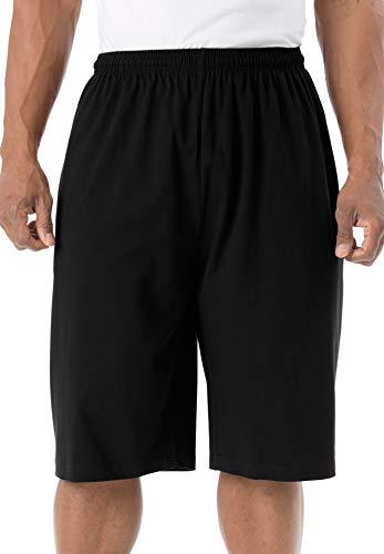 KingSize Men's Big & Tall Lightweight Extra Long Shorts - Big - 3XL, Black