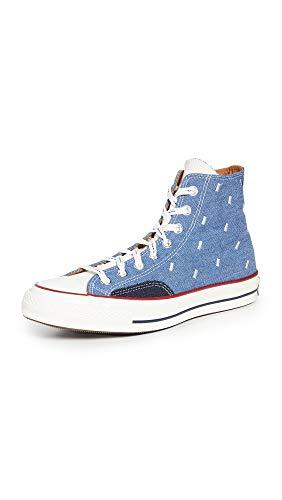 Converse Men's Indigo Boro Chuck 70 Hi Sneakers, Blue/Egret/Midnight Navy, 10 Medium US