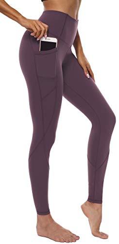 Persit Persit Damen Yoga Leggings, Sport Tights Leggins Yogahose Sporthose für Damen Rotlila-XS