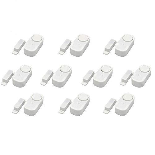 STW 10 piezas Alarma del sensor inalámbrico Anti-robo de las puertas y ventanas de la casa Sistema de alarma de seguridad Sensor magnético