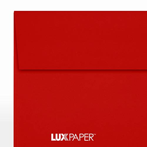 6 1/2 x 6 1/2 Square Envelopes - Holiday Red (50 Qty)   Perfect for Invitations, Announcements, Greeting Cards, Photos   8535-15-50 Photo #4