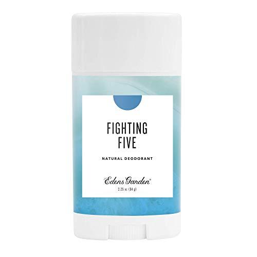 Edens Garden Fighting Five Natural Deodorant, Aluminum & Baking Soda Free (For Normal & Sensitive Skin), Made With Essential Oils, Vegan, For Men & Women, 2.25 oz