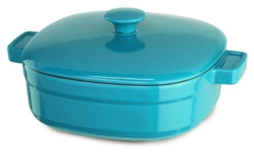 KitchenAid Streamline Cast Iron 4-Quart Casserole Cookware - Curacao Blue