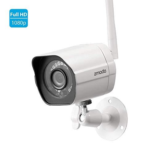 Zmodo Outdoor Wireless Security Camera, HD 1080p WiFi Smart Home Surveillance IP Camera with Night...