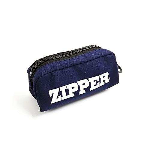 筆箱 シンプル 鉛筆入れ 筆箱 韓国 袋 たっぷり 収納 デカ チャック ペンケース 5色 紺色【BELSUS正規品】