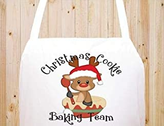 StickerChef Christmas Kitchen Apron Cooking Baking Chefs Aprons Baking Team 2