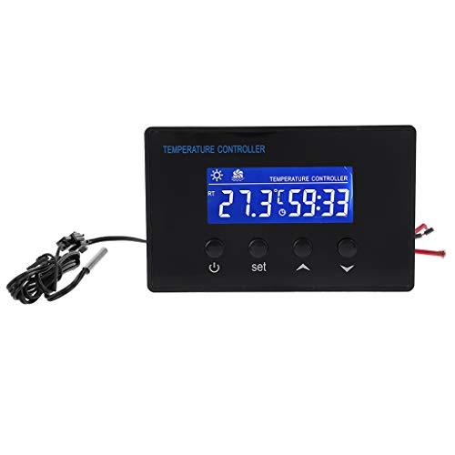 Qiulip Digitales Sauna-Thermostat 220V 10A Temperaturregler Timer mit NTC-Sensor