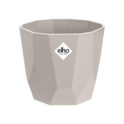 elho b.for Rock 14 Pflanzentopf – Runder Blumentopf in warmem Grau – Modische Deko für die Wohnung – Ø 14,1 x H 12,9 cm