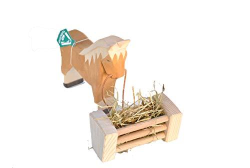 Heuraufe aus Holz für den Spielzeugbauernhof