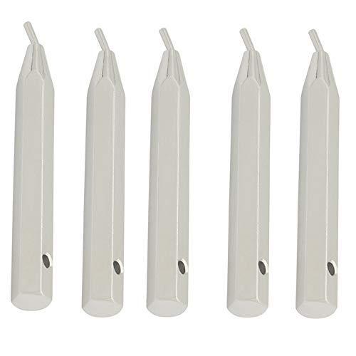 DXX-HR 5 destornilladores para violín de mentón de acero inoxidable con tornillo para llave de violín