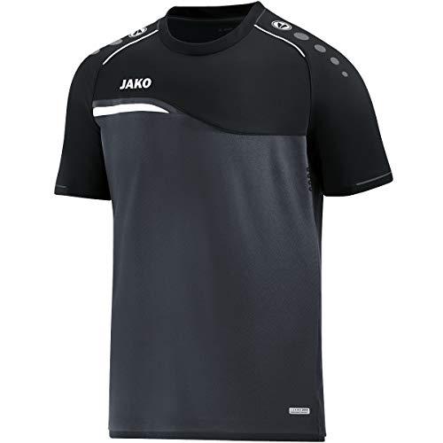 JAKO Herren T-shirt Competition 2.0, anthrazit/schwarz, XL, 6118