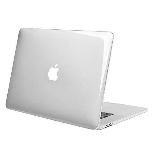 MOSISO Custodia MacBook PRO 16 Pollici 2020 2019 Case A2141 con Touch Bar e Touch ID, Ultra Sottile Plastica Custodia Protettiva Rigida Compatibile con MacBook PRO 16 Pollici, Cristallino