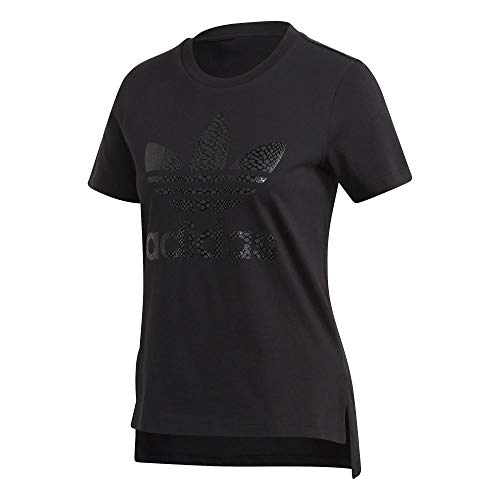 adidas Damen Tee T-Shirts Schwarz, 38