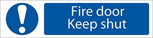 Draper Fire Door Keep Shut PVC Sign 200mm x 50mm