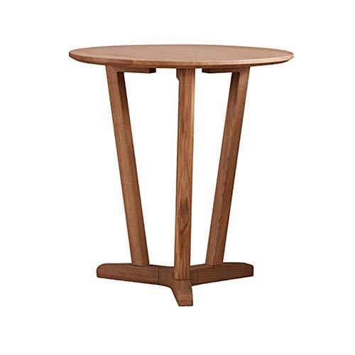 Mesa redonda nórdica de madera maciza, lado del sofá de la sala de estar, mesita de noche creativa para el dormitorio, mesa de centro multifuncional para exteriores, mesa de refrigerio de fresno simpl
