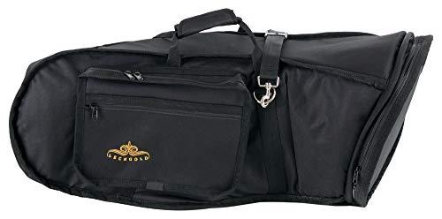 Lechgold tas voor de bovenkrainer-bariton – voor alle gangbare bellfrontmodellen – lengte: 82 cm – voor geluidsbekers tot ca. 35 cm diameter - met draaggreep, schouderriemen en rugzakriemen - zwart