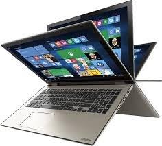 Toshiba P55W 2-in-1 15.6' Full HD Touchscreen Convertible Flagship UltraBook Laptop PC, Intel Core i7-4510U 2GHz, 12GB Memory, 256GB SSD, Backlit Keyboard, HDMI, NO DVD, Windows 8.1, Satin Gold
