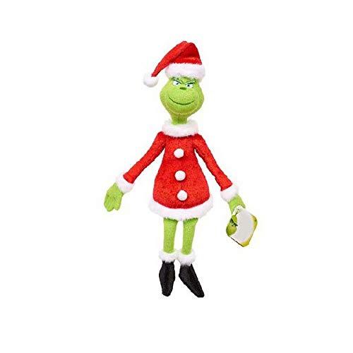Qiujiam Die Grinch Spielzeug für Kinder Weihnachten Spielzeug Grinch Plüsch Geschenk Set Weiche Kreative Puppe Kuscheltiere Plüschtier Grinch Geschenk für Weihnachten Geburtstag